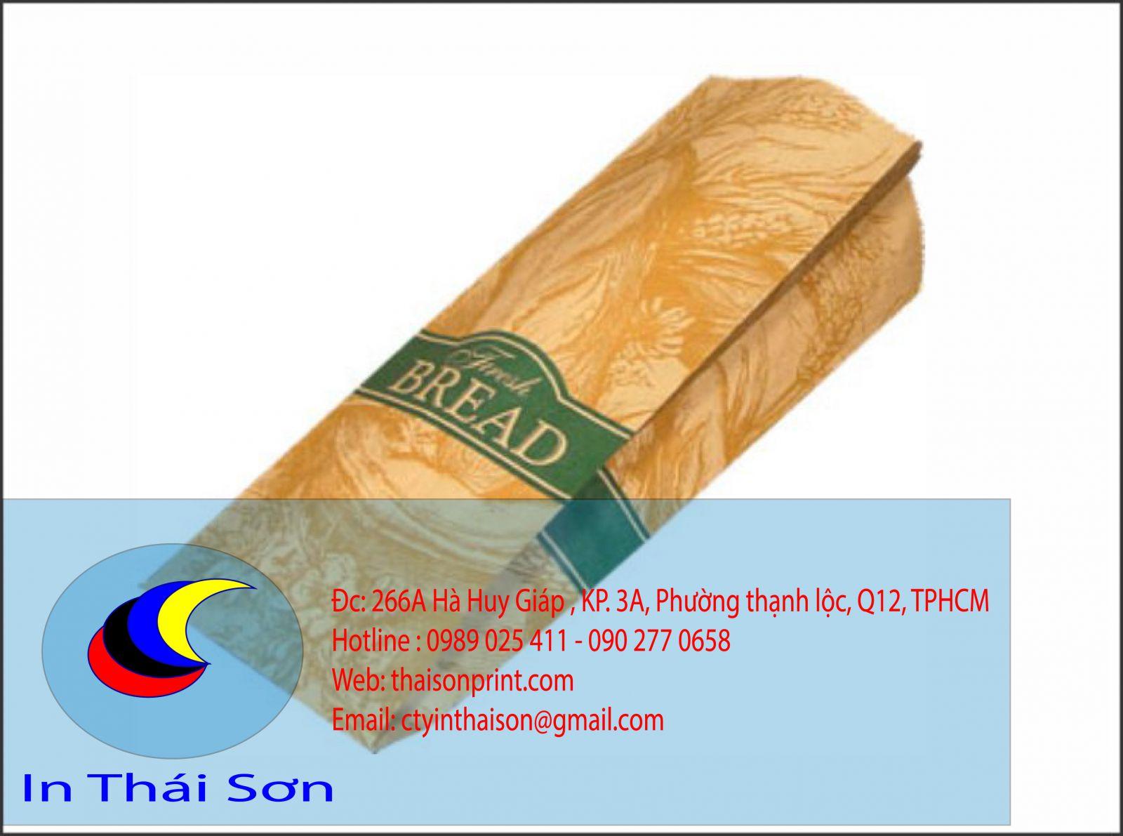 Túi bánh mì giấy krap nâu