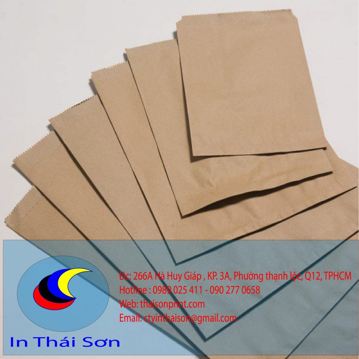 mẫu giấy túi krap nâu