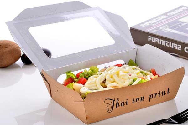 In hộp cơm bằng giấy tphcm