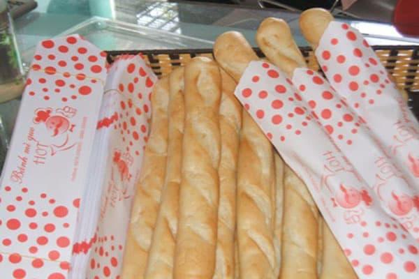 in túi giấy đựng bánh mì que